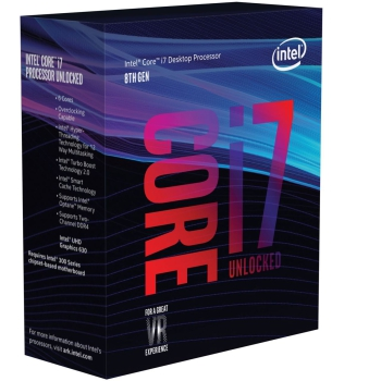 Intel® Core™ i7-8700K, Prozessor 6x 4,70GHz (Coffee Lake-S, boxed)