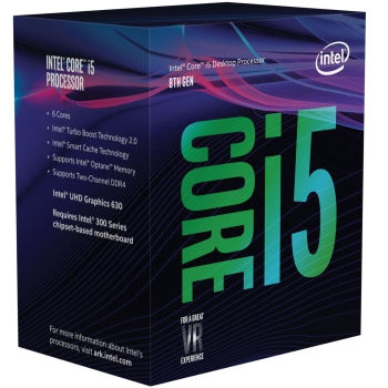 Intel® Core™ i5-8500, Prozessor 6x 4,10GHz (Coffee Lake-S, boxed)