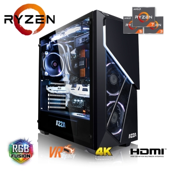 AZZA Gaming PC Ryzen 7 2700X 8x3,70GHz, GTX 1060 3GB, 16GB DDR4, 240GB SSD