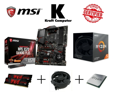 PC Bundle AMD Ryzen 5 3600X (6x4,4GHz) + MSI X570 GAMING Plus