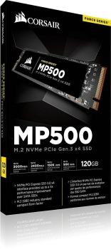 Corsair Force MP500 120 GB, schwarz, SSD M.2, NVMe PCIe Gen. 3 ×4)