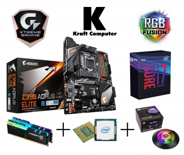 PC Bundle Generation 9 Intel i7 9700K 8x4,9GHz + GIGABYTE Z390 AORUS ELITE + 16GB DDR4 3000MHz