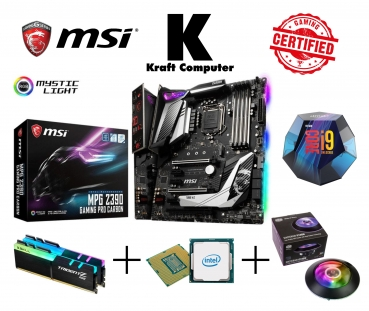 PC Bundle Generation 9 Intel i9 9900K 8x5,0GHz + MSI Z390 GAMING PRO CARBON + 16GB DDR4 3000MHz