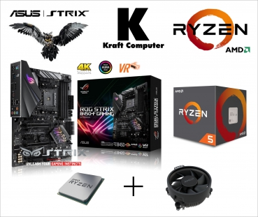 PC Bundle Aufrüstkit AMD Ryzen 5 2600 6x3,9GHz + ASUS ROG STRIX B450-F Gaming