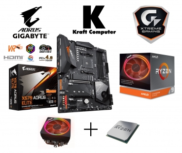 PC Bundle AMD Ryzen 9 3900X (12x3,8GHz) + Gigabyte X570 AORUS ELITE