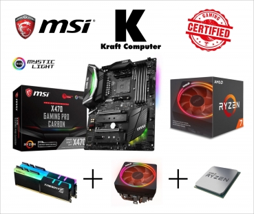 PC Bundle AMD Ryzen 7 2700X (8x4,3GHz) + MSI X470 GAMING PRO CARBON + 16GB DDR4 2400MHz