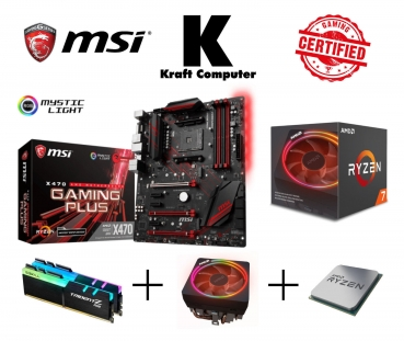 PC Bundle AufrüstKit AMD Ryzen 7 2700X (8x4,3GHz) + MSI X470 Gaming Plus + 16GB DDR4 Ram 2400MHz