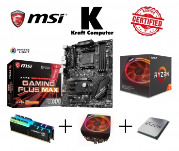 PC Bundle AufrüstKit AMD Ryzen 7 2700X (8x4,3GHz) + MSI X470 Gaming Plus + 16GB DDR4 Ram 3000MHz