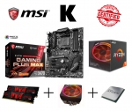 PC Bundle AufrüstKit AMD Ryzen 7 2700X (8x4,3GHz) + MSI X470 Gaming Plus + LED/RGB Kühler